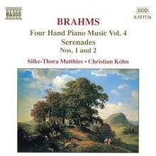 Johannes Brahms (1833-1897): Klaviermusik zu 4 Händen Vol.4, CD