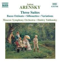 Anton Arensky (1861-1906): Suiten Nr.1-3, CD
