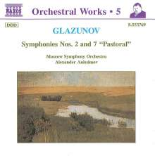 Alexander Glasunow (1865-1936): Symphonien Nr.2 & 7, CD