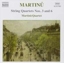 Bohuslav Martinu (1890-1959): Streichquartette Nr.3 & 6, CD