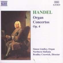 Georg Friedrich Händel (1685-1759): Orgelkonzerte Nr.1-6 (op.4 Nr.1-6), CD