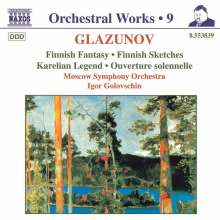 Alexander Glasunow (1865-1936): Finnische Fantasie op.88, CD