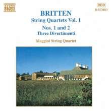 Benjamin Britten (1913-1976): Sämtliche Werke für Streichquartett Vol.1, CD