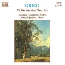 Edvard Grieg (1843-1907): Sonaten f.Violine & Klavier Nr.1-3, CD
