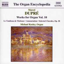 Marcel Dupre (1886-1971): Orgelwerke Vol.10, CD