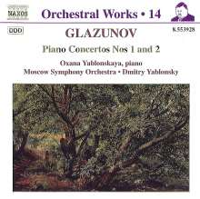 Alexander Glasunow (1865-1936): Klavierkonzerte Nr.1 & 2, CD