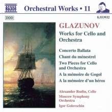 Alexander Glasunow (1865-1936): Werke für Cello & Orchester, CD
