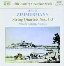 Anton Zimmermann (1741-1781): Streichquartette Nr.1-3, CD
