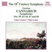 Johann Christian Cannabich (1731-1798): Symphonien Nr.59,63,64,67,68, CD