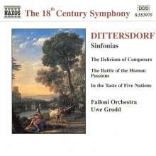 Karl Ditters von Dittersdorf (1739-1799): 3 Symphonien, CD