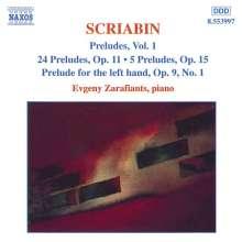 Alexander Scriabin (1872-1915): Preludes Vol.1, CD