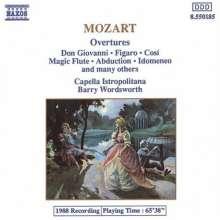 Wolfgang Amadeus Mozart (1756-1791): Overtures (Comp), CD