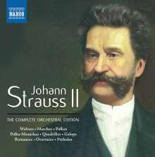 Johann Strauss II (1825-1899): Sämtliche Orchesterwerke, 52 CDs