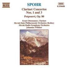 Louis Spohr (1784-1859): Klarinettenkonzerte Nr.1 & 3, CD