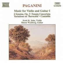 Niccolo Paganini (1782-1840): Werke für Violine & Gitarre Vol.1, CD