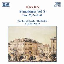 Joseph Haydn (1732-1809): Symphonien Nr.23,24,61, CD