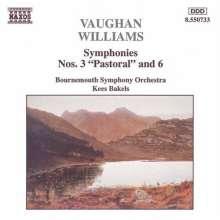 Ralph Vaughan Williams (1872-1958): Symphonien Nr.3 & 6, CD