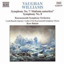 Ralph Vaughan Williams (1872-1958): Symphonien Nr.7 & 8, CD