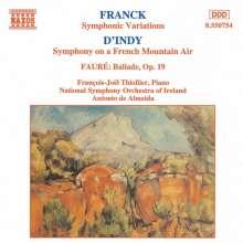 Vincent d' Indy (1851-1931): Symphonie Nr.1 f.Klavier & Orch.op.25, CD