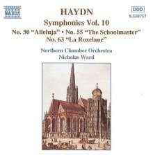 Joseph Haydn (1732-1809): Symphonien Nr.30,55,63, CD