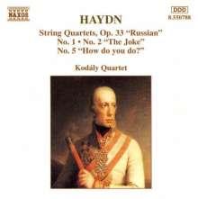 Joseph Haydn (1732-1809): Streichquartette Nr.37,38,41, CD
