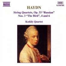 Joseph Haydn (1732-1809): Streichquartette Nr.39,40,42 (op.33 Nr.3,4,6), CD