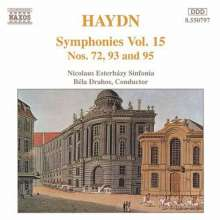 Joseph Haydn (1732-1809): Symphonien Nr.72,93,95, CD