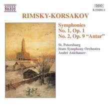 Nikolai Rimsky-Korssakoff (1844-1908): Symphonien Nr.1 & 2, CD