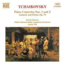 Peter Iljitsch Tschaikowsky (1840-1893): Klavierkonzerte Nr.1 & 3, CD