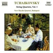 Peter Iljitsch Tschaikowsky (1840-1893): Die Streichquartette Vol.1, CD