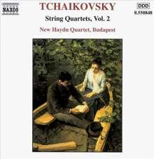 Peter Iljitsch Tschaikowsky (1840-1893): Die Streichquartette Vol.2, CD