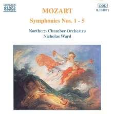 Wolfgang Amadeus Mozart (1756-1791): Symphonien Nr.1-5, CD