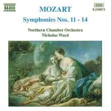 Wolfgang Amadeus Mozart (1756-1791): Symphonien Nr.11-14, CD