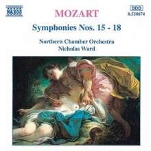 Wolfgang Amadeus Mozart (1756-1791): Symphonien Nr.15-18, CD