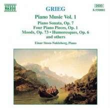 Edvard Grieg (1843-1907): Klavierwerke Vol.1, CD