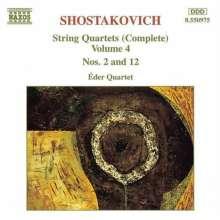 Dmitri Schostakowitsch (1906-1975): Streichquartette Nr.2 & 12, CD