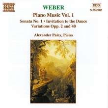 Carl Maria von Weber (1786-1826): Klavierwerke Vol.1, CD