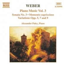 Carl Maria von Weber (1786-1826): Klavierwerke Vol.3, CD