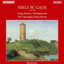 Niels Wilhelm Gade (1817-1890): Die 3 Streichquartette, CD