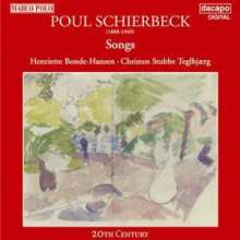 Poul Schierbeck (1888-1949): Lieder, CD
