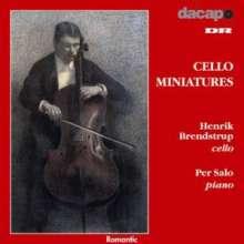 Henrik Brendstrup - Cello Miniatures, CD