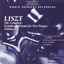 Franz Liszt (1811-1886): Sämtliche Symphonische Dichtungen für 2 Klaviere Vol.1, CD