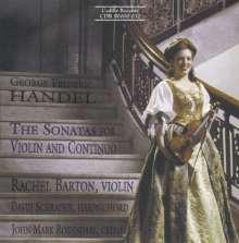 Georg Friedrich Händel (1685-1759): Violinsonaten op.1 Nr.3,6,10,12,13,14, CD