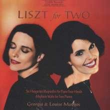 Franz Liszt (1811-1886): Ungarische Rhapsodien Nr.1-6 für Klavier 4-händig, CD