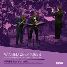 """Werke für Flöte, Klarinette & Orchester """"Winged Creatures"""", CD"""