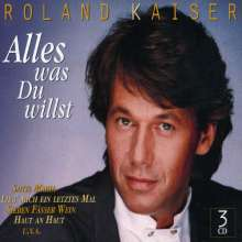 Roland Kaiser: Alles was du willst, 3 CDs