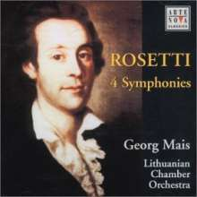 Antonio Rosetti (1750-1792): Symphonien Murray A8,A21,A27,A42 (Kaul I Nr.20,26,27,32), CD