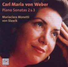 Carl Maria von Weber (1786-1826): Klaviersonaten Nr.2 & 3, CD