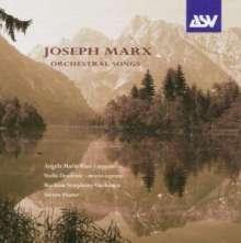 Joseph Marx (1882-1964): Sämtliche Orchesterwerke Vol.2 - Orchesterlieder, CD