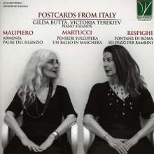 Postcards from Italy - Italian Music for Piano 4-Hands, CD